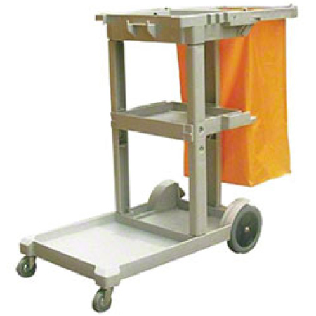 Peoples Supplies Janitor Cart With Vinyl Bag Peoples